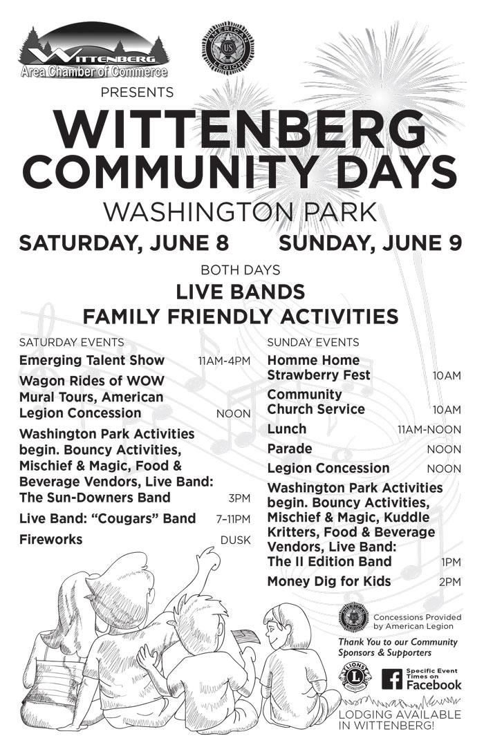 2019 Community Days Flyer